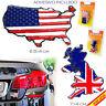 PEGATINA CROMADA ADHESIVO COCHE USA UK RELIEVE EMBLEMA CAR TUNING ADHESIVE ENG