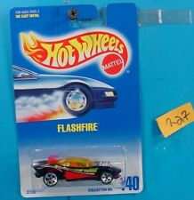 C227 HOT WHEELS 1991 COLLECTOR NO.140 FLASHFIRE TURBO BLACK RED  NEW ON CARD