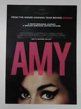 """Amy Winehouse - Amy (movie) Promo Poster 11.5"""" x 16"""" Rare Limited Edition"""