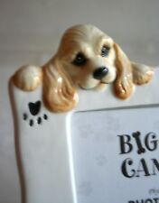 "Very Cute Big Sky Canine Ceramic Dog Photo Frame Holds 3-1/2"" x 5"" Photo"
