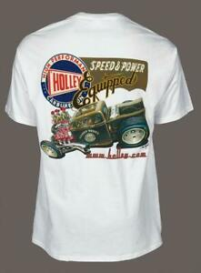 Holley T-Shirt Cotton Holley Front Logo/Speed&Rear Logo White Men's 3X-Large Ea