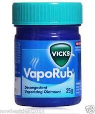Vicks Vaporub Ointment Vaporizing blocked nose cough Nasal headache Relief 25gm