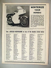 Quality Motorcycle Accessories PRINT AD - 1966 ~~ Butler Bodygaurd