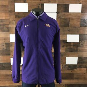 Mens Tall Nike Football Geaux Tigers Therma Full Zip Jacket Purple Sz Large Tall
