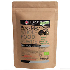 Black Maca Root Powder Gelatinized 4 1 - Certified Organic From The High Andes -