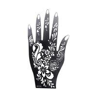 1Pcs Henna Hand Stencil Flower Glitter Airbrush Mehndi Henna Large For Hand