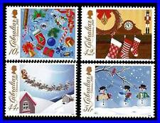 GIBRALTAR 2010 CHRISTMAS SC#1253-56 MNH TOYS, CLOCK, SANTA (3ALL)