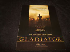 Gladiator Oscar ad Russell Crowe as Maximus in silhouette, Ridley Scott