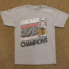 2015 Stanley Cup Champions Chicago Blackhawks NHL Hockey Tshirt Small SHIPS FAST