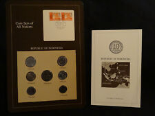 Franklin Mint:Republic of Indonesia Coin Sets of All Nations 1970-79 w/Info Card