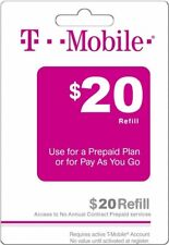T - MOBILE Prepaid $20 Refill Top-Up Prepaid Card / DIRECT RECHARGE