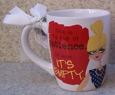 Jumbo Coffee Mug This is my Cup of patience It's Empty NEW 24 ounce cup gift box