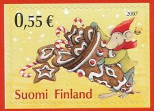Finland 2007 MNH Stamp - Christmas - Gingerbread - Peppermint Candy Cane - Mouse