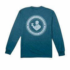 Rowdy Gentleman Good Times Seal Legion Blue Small Pocket T-Shirt Long Sleeve