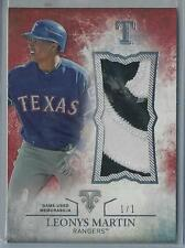 2015 TOPPS TRIPLE THREADS LEONYS MARTIN 2 COLOR PATCH 1/1!!