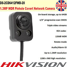 Hikvision DS-2CD6412FWD-20 1.3MP WDR Audio/Alarm IO Pinhole Covert IP Camera