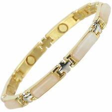 Ladies Magnetic Bracelet Faux Gemstones Magnets Rose Quartz
