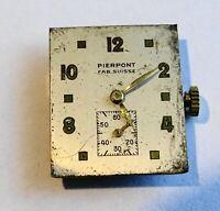 Vintage Bewegung Uhren- Mechanisch PIERPONT CAL.1000 Schweiz