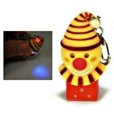 LED CLOWN KEYCHAIN w Light and Sound Fun Laughing Noise Gag Gift Key Chain Ring