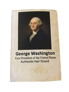 George Washington Hair Strand Lock Piece Speck Relic President not signed