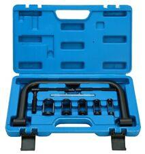 Valve Spring Compressor Pusher Car Motorcycle Spring Repair Tool Set 5 Adapters