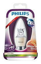 Philips Warmglow 230V B22 Bayonet 6W LED Dimmable Candle Light Bulb Warm white