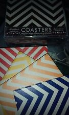 """8 CERAMIC AND CORK 4"""" Square coasters; Occasions brand F9122; 2 sets of FOUR"""