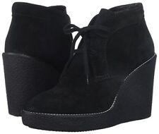 Aquatalia Women's Vicki Suede Ankle Boots Black SZ 6M