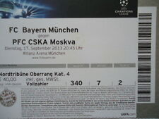 TICKET UEFA CL 2013/14 Bayern München - CSKA Moskva