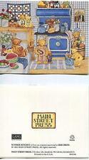 VINTAGE EGGS SPINACH ARTICHOKE HAM NEW ORLEANS RECIPE 1 TEA COFFEE POT BEAR CARD