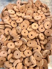 """50 Extra Select Natural 1 1//4/"""" x 1//2/"""" x 1//4/"""" Hole Cork Rings"""
