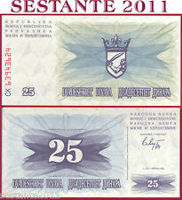 BOSNIA & HERZEGOVINA - 25 DINARA 1.7. 1992 - P 11  - FDS / UNC