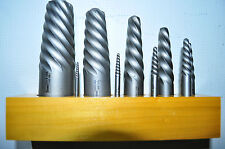 HANSON 9 Pc. Set (EX1-9), Spiral Screw Extractor Made in USA New w Wooden Stand