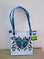 NWT $78 Brighton Clear Vinyl Summer Heart Tote Bag Sophia Collection