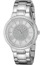 GUESS W0637L1,Ladies Dress,Stainless Steel,Silver-Tone,Crystal Accented Bezel