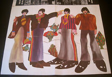 OFFICIAL LIC THE BEATLES~1968~YELLOW SUBMARINE EYE MAGAZINE INSERT POSTER 19x25