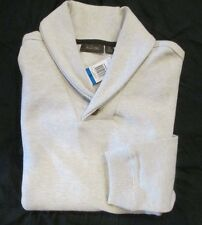 TASSO ELBA Shawl Collar Silver Birch 100% Cotton Sweater Men's XL