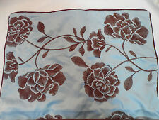 Daisy Fuentes Brown & Blue Asian Style Embroidered Pillow Sham Standard Size