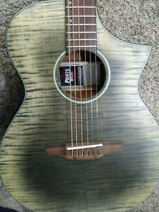 New IBANEZ AEWC32FM-GBK 6 STRING EXOTIC Acoustic-Electric FLAME TOP