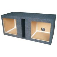 """Dual Labyrinth Vented Ported Subwoofer Box 12"""" 3/4"""" MDF Kicker Square Hole L7 L3"""