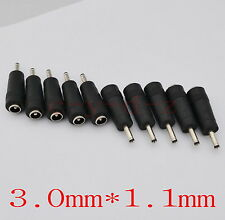 10pcs DC Power Jack 5.5mm x 2.1mm Female To 3.0 x 1.1mm Male Plug Cable adapter