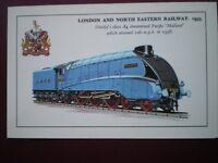 POSTCARD LNER GRESLEY A4 STREAMLINED LOCO 4468 'MALLARD'