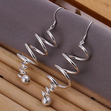 925 Sterling Silver Filled Fashion Chandelier Drop Dangle Earrings Free Shipping