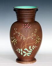 Large Vintage Hand Thrown West German Art Pottery Vase Incised Squeezebag