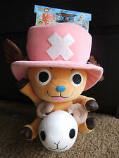 "2004 Banpresto One Piece CHOPPER w/ Going Merry Ship Plush w/Tags 12"" RARE"