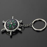 For Hiking Camping Jungle Metal Car Keyring Compass  Keychain Keyfob Keyring
