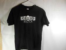 Rusty Medium Black Shirt with Scull Logo Surf Wear