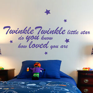 TWINKLE LITTLE WALL STICKER ART DECAL QUOTE