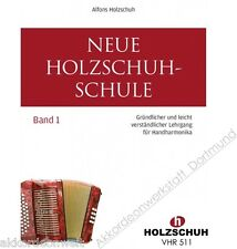 NUOVA Scarpa in LEGNO scuola 1, diatoniche Hand-Harmonika, Book for diatonic Accordion
