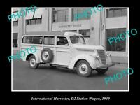 OLD HISTORIC PHOTO OF INTERNATIONAL HARVESTER D2 STATION WAGON AT FACTORY c1940